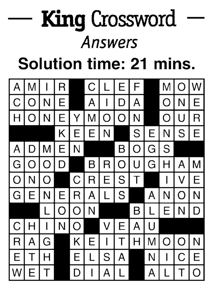 crossword ans