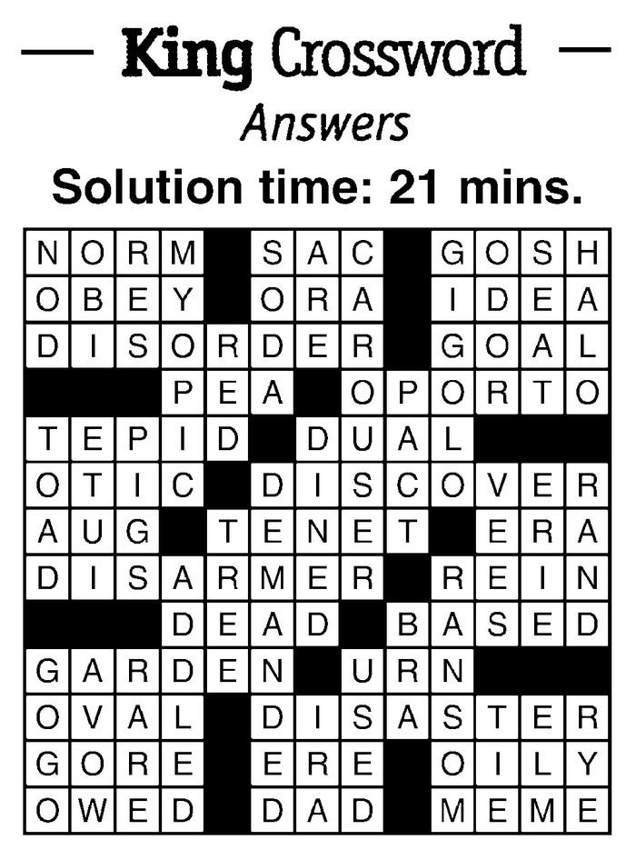 crossword an