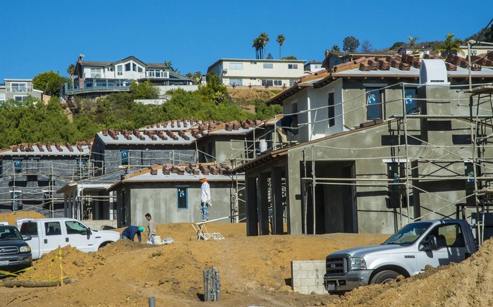 "Ten ""executive-style"" homes on Foothill Road near Day Road are currently under construction. Photo by John Ferritto"