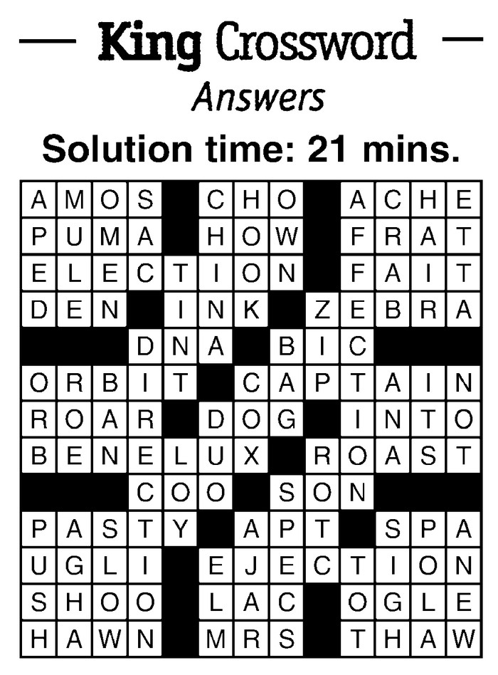 crossword clues The hindu's crossword in interactive form, play online, clues and solutions.