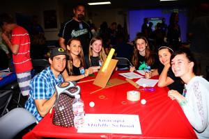 Anacapa Middle School participants Angel Esparza, Isabella Hall, Taylor Spira, Madeleine Locher, Julia Schermer