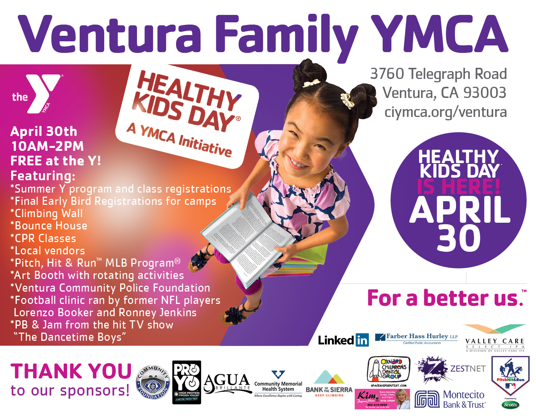 YMCA Healthy Kids Day April 30th – Ventura Breeze