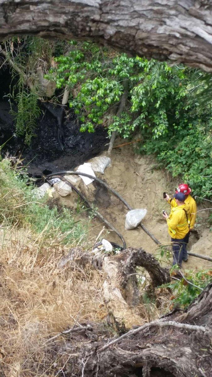 press release grove incident barrels crude oil spilled hall canyon ventura ca