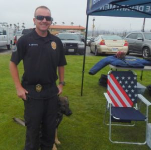 Ventura Police Officer Trevor Hrynyk and K9 Jag were at the Felix & Fido Adoption Festival held on June 6 (Jag is bashful except when catching the bad guys).