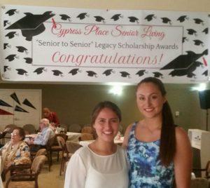 "Ventura High School students Daniela Aranda and Sierra Conboy were each awarded a $2500 Cypress Place Senior Living ""Senior to Senior Legacy Scholarship award.Photo courtesy of Cypress"