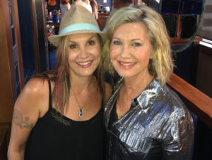 Karen Eden with Olivia Newton-John at W20 at the Watermark, Thursday, August 4.