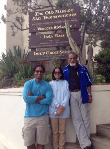 Writer Arijit with his parents enjoying Ventura.