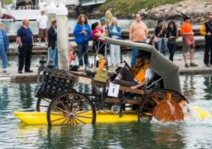 """Horseless Carriage"" may never be seen in Ventura again at the Kinetic Sculpture Race. Photo by John Ferritto"