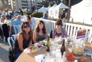 Enjoying last year's Pier Under the Stars were Pam Baumgardner, Staci Brown and Diane Brown.