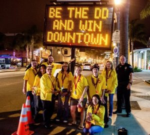 The Be the DD and Win campaign will continue its message at large weekend festivals and holiday weekends.