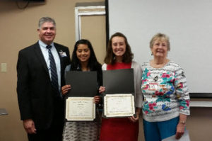Gary Wilde, CEO CMH, Delyla Rivera, Casey O'Neil and Edie Marshall, Junior Coordinator at scholarship awards.