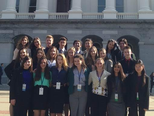 Ventura Family YMCA Youth & Government delegates outside of the California State Capitol during the 68th Model Legislature & Court.
