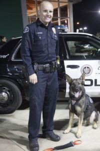 "Officer Hrynyk and dog partner ""Jag"""