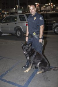 "Officer Therrien and dog ""Yoschi"""