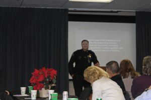Chief Ken Corney spoke about the accomplishments and goals of the Foundation at luncheon.