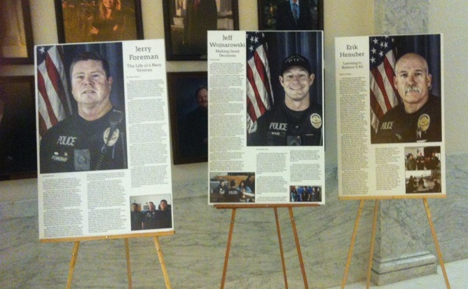 """Pacific High School """"Voices of Veterans"""" was on display at Ventura City Hall."""