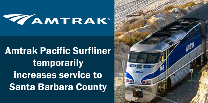 Amtrak Pacific Surfliner temporarily increases service to Santa