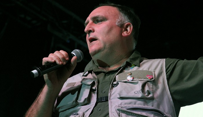 chef jose andres at the plaza park benefit held for fire victims photo by pam baumgardner - World Central Kitchen